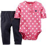 Carter's Baby Girl Polka-Dot Bodysuit & Jegging Set