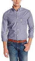 Ben Sherman Men's Classic Long Sleeve Gingham Button-Down Shirt