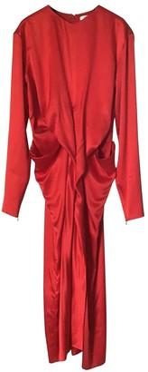 Celine Red Silk Dresses
