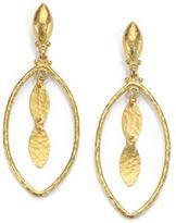 Gurhan 24K Yellow Gold-Layered Marquis Drop Earrings