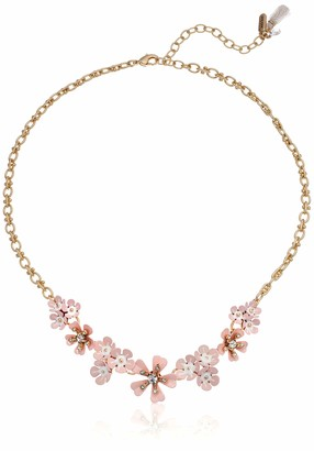 lonna & lilly Women's 16 Inch Flower Frontal Gold Necklace
