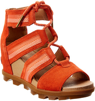 Sorel Joanie Ii Lace-Up Leather Wedge