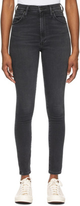 Citizens of Humanity Black High-Rise Chrissy Jeans
