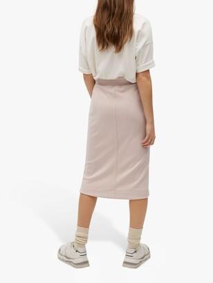 MANGO Elastic Waist Midi Skirt