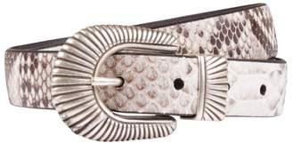 Andersons Leather Snake-Embossed Belt