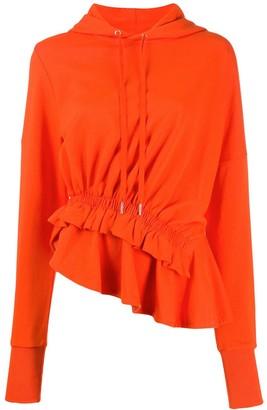 Preen Line Ally ruffle-trim hoodie