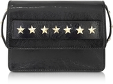 RED Valentino Golden Stars Black Leather Shoulder Bag