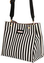 Marni Small Striped Canvas Tote Bag
