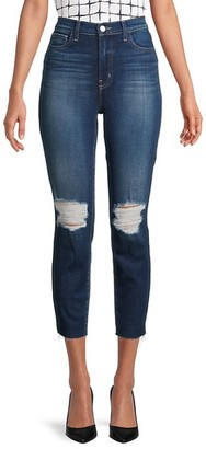 L'Agence High-Rise Slim-Fit Distressed Jeans