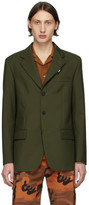 MSGM Green 3-Button Blazer