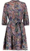 Saloni Tyra Printed Silk Mini Dress