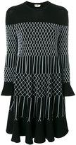 Fendi net pattern knitted dress
