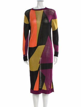 Paper London Printed Knee-Length Dress Purple Printed Knee-Length Dress