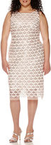 Studio 1 Sleeveless Beaded Sheath Dress - Plus
