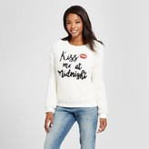Xhilaration Women's Kiss Me At Midnight Pullover Cream