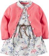 Carter's Cardigan Dress Set (Baby) - Floral - 18 Months
