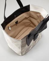 Marc Jacobs Snakeskin-Paneled Tote Bag