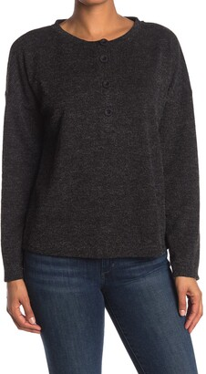 Gibson Ribbed Knit Dolman Sleeve Henley