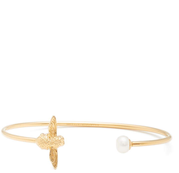 Olivia Burton Pearl Bee Bangle Bracelet