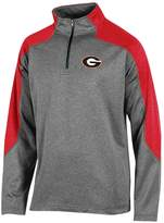 Champion Men's Georgia Bulldogs Colorblock Quarter-Zip Top