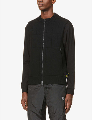 Stone Island Sleeveless wool-blend gilet