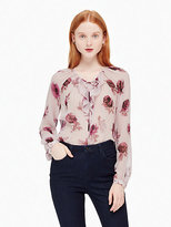 Kate Spade Encore rose chiffon shirt
