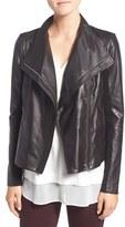 Trouve Women's Leather Moto Jacket