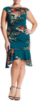 ABS by Allen Schwartz Floral Cap Sleeve Dress (Plus Size)