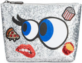 Circus by Sam Edelman Carley Glitter Customizable Cosmetic Case
