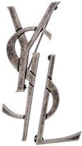 Saint Laurent Monogram deconstructed brooch set of two