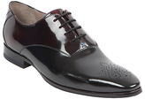 Oliver Sweeney Hi-shine Leather Oxford Shoes, Black/burgundy