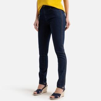 "Anne Weyburn Slim Fit Jeans with Side Stripe, Length 30.5"""