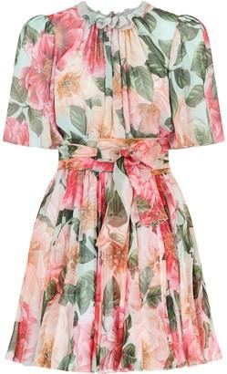 Dolce & Gabbana Floral-Print Mini Dress