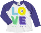 adidas Girls 4-6x Graphic Raglan Tee