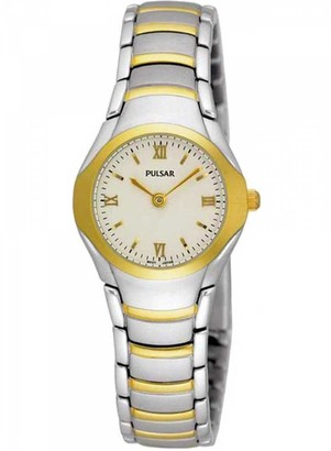 Pulsar Women's Analogue Analog Quartz Watch with Stainless Steel Strap PEG406X1