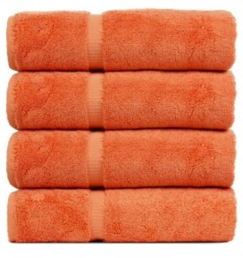 Bc Bare Cotton Luxury Hotel Spa Towel Turkish Cotton Bath Towels, Set of 4 Bedding