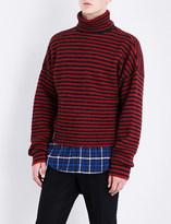 Lanvin Striped wool-blend jumper