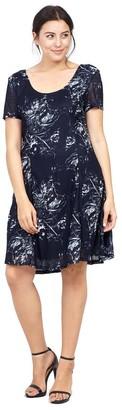 M&Co Izabel Curve floral print tea dress