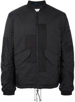 Oamc patchwork design bomber jacket