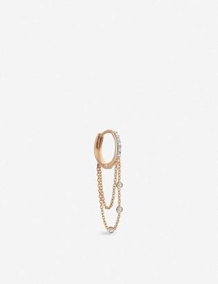 THE ALKEMISTRY Kismet by Milka 14ct rose-gold and diamond hoop single earring