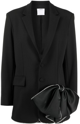 Area Bow-Detail Single-Breasted Blazer