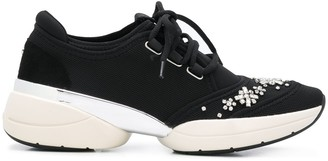 Carvela Lush crystal-embellished sneakers