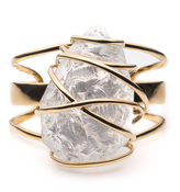 Alexis Bittar Caged Rough Cut Crystal Nugget Cuff Bracelet