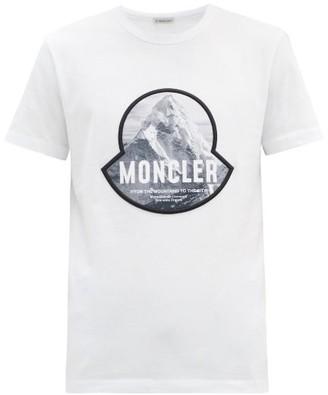 Moncler Mountain Logo-print Cotton T-shirt - White