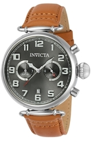 Invicta Aviator Stainless Steel Grey Dial VD31 Quartz Watch, 46mm