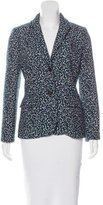 Tory Burch Jacquard Notch-Lapel Blazer