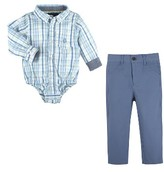 Andy & Evan Infant Boy's Shirtzie Bodysuit & Pants Set