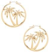 Forever 21 FOREVER 21+ Palm Tree Hoop Earrings