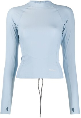 Ambush Light Blue Scuba Long-Sleeve Top