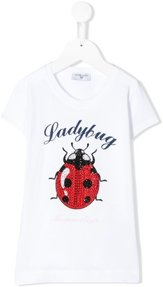 MonnaLisa ladybug print T-shirt